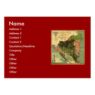 1898 Official Map of Nicaragua Large Business Cards (Pack Of 100)