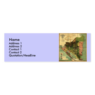 1898 Official Map of Nicaragua Double-Sided Mini Business Cards (Pack Of 20)