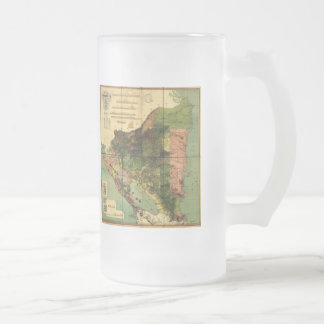1898 Official Map of Nicaragua Frosted Glass Beer Mug