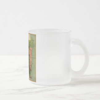 1898 Official Map of Nicaragua Frosted Glass Coffee Mug