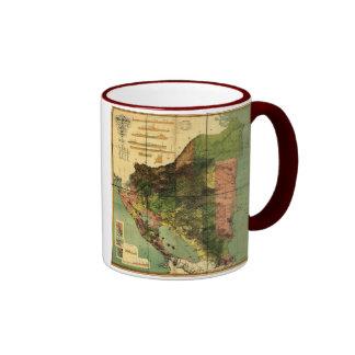 1898 Official Map of Nicaragua Mug