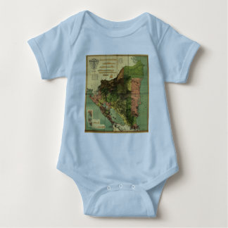 1898 Official Map of Nicaragua T Shirts