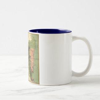1898 Official Map of Nicaragua Two-Tone Coffee Mug