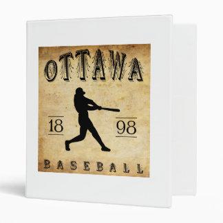 1898 Ottawa Ontario Canada Baseball 3 Ring Binder