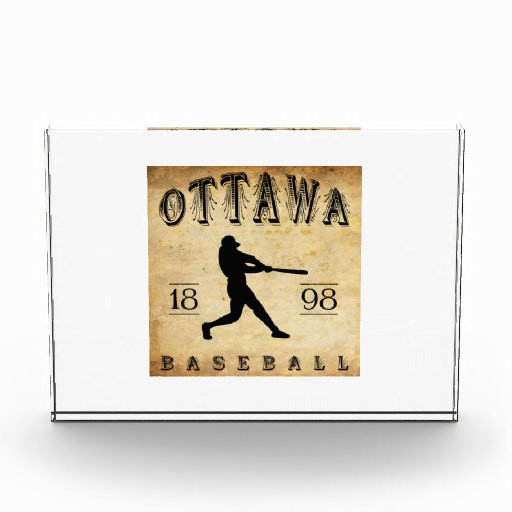1898 Ottawa Ontario Canada Baseball Acrylic Award