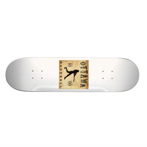 1898 Ottawa Ontario Canada Baseball Skateboard