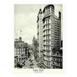 1898 Park Row, New York City Postcard