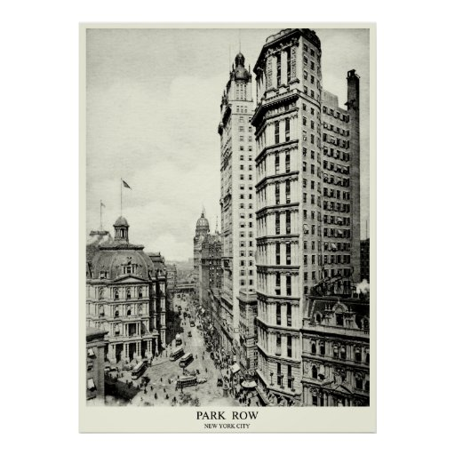 1898 Park Row, New York City Poster