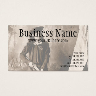 1898 Photo of Miss Annie Oakley Holding a Rifle Business Card