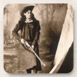 1898 Photo of Miss Annie Oakley Holding a Rifle Beverage Coaster