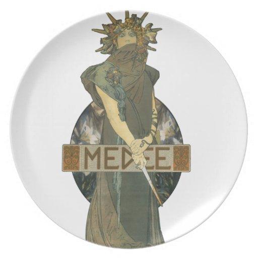 1898) placas de Alfonso Muchas Medee ( Plato De Comida