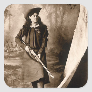 1898 Portrait of Miss Annie Oakley Holding a Rifle Stickers