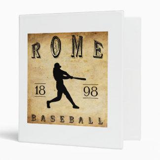 1898 Rome New York Baseball 3 Ring Binder