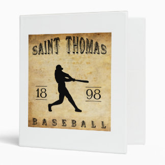 1898 Saint Thomas Ontario Canada Baseball 3 Ring Binder