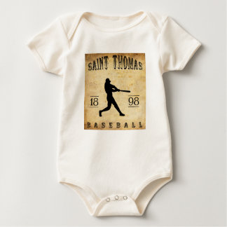 1898 Saint Thomas Ontario Canada Baseball Baby Bodysuit
