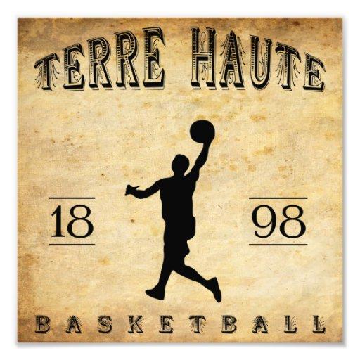 1898 Terre Haute Indiana Basketball Photograph