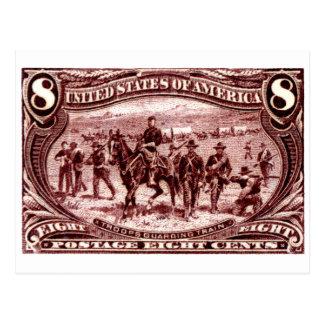 1898 tropas que guardan el tren de carromatos tarjeta postal