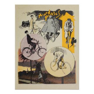 1898 Vintage Bicycle Feininger Ad Art Poster
