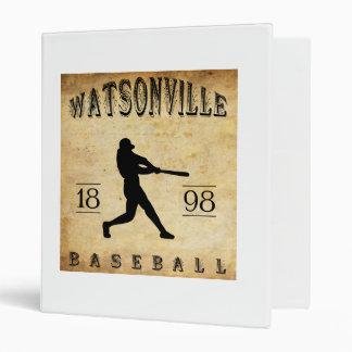 1898 Watsonville California Baseball 3 Ring Binder