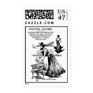 1898 Yachting Costume Fashion Illustration Postage
