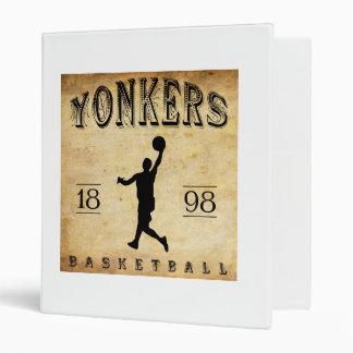 1898 Yonkers New York Basketball 3 Ring Binder