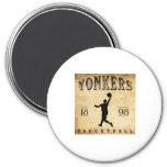 1898 Yonkers New York Basketball Magnet