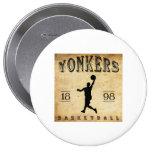 1898 Yonkers New York Basketball Pin