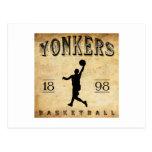 1898 Yonkers New York Basketball Post Card