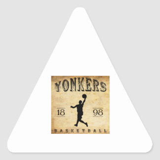 1898 Yonkers New York Basketball Triangle Stickers