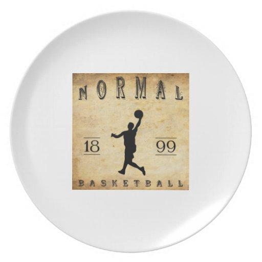 1899 baloncestos normales de Illinois Plato Para Fiesta