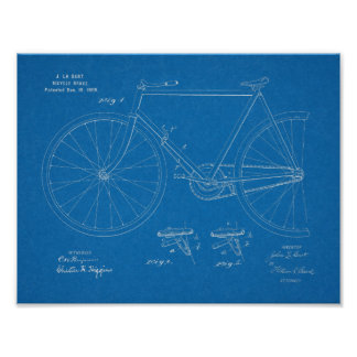 1899 Bicycle Brake Patent Art Drawing Print