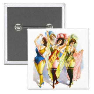 1899 Dancing Girls Pinback Button
