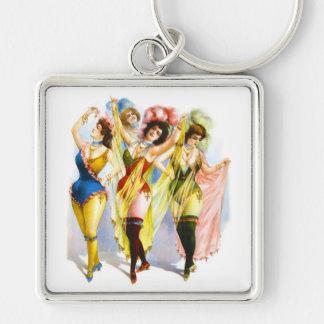 1899 Dancing Girls Keychain