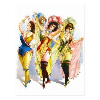 1899 Dancing Girls Postcard