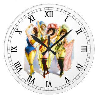 1899 Dancing Girls Wallclocks