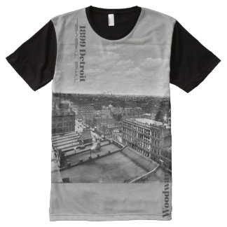 1899 Detroit - Time Travel Woodward All-Over-Print Shirt