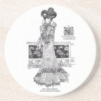 1899 Dublin Simple & Pretty Street Costume Drink Coaster