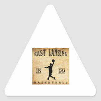 1899 East Lansing Michigan Basketball Triangle Sticker