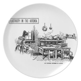 1899 Electric Kitchen illustration Dinner Plate