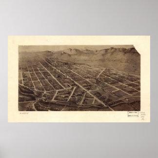 1899 Fort Collins, mapa panorámico de la opinión d Póster