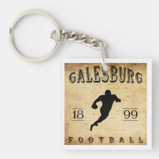 1899 Galesburg Illinois Football Keychain