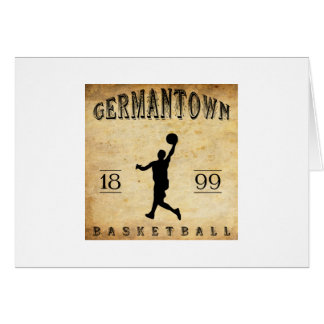 1899 Germantown Pennsylvania Basketball Card