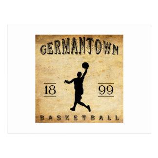 1899 Germantown Pennsylvania Basketball Postcard
