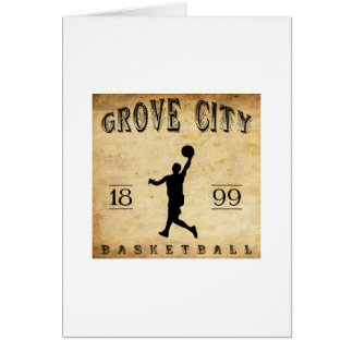 1899 Grove City Pennsylvania Basketball Stationery Note Card