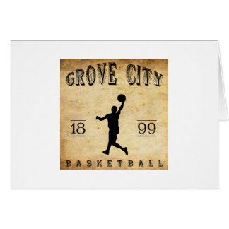 1899 Grove City Pennsylvania Basketball Card