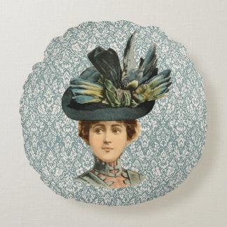 1899 Hat for Ladies #1 (Victorian era) Round Pillow