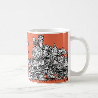 1899 Heisler Steam Engine Classic White Coffee Mug