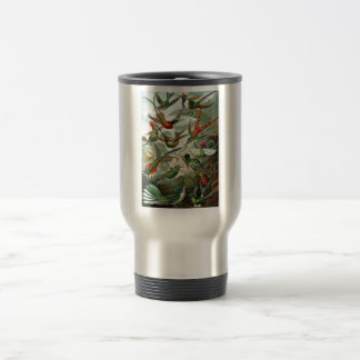 1899 Hummingbird Species Art Forms of Nature Print Travel Mug