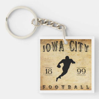 1899 Iowa City Iowa Football Square Acrylic Key Chain