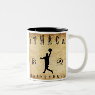 1899 Ithaca New York Basketball Two-Tone Coffee Mug